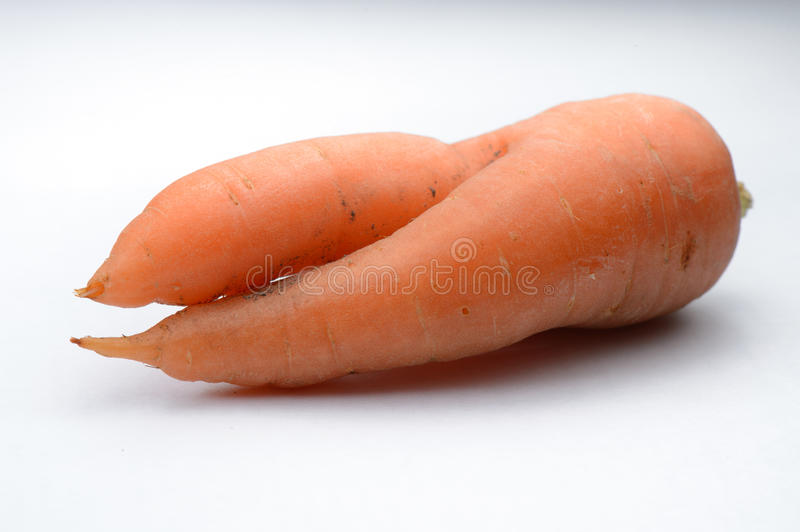Intertwined carrots stock image