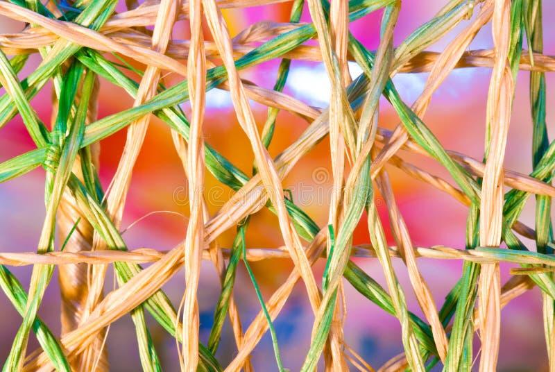 intertwined weave рафии стоковое фото rf