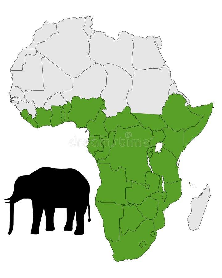 Intervalle d'éléphant africain illustration libre de droits