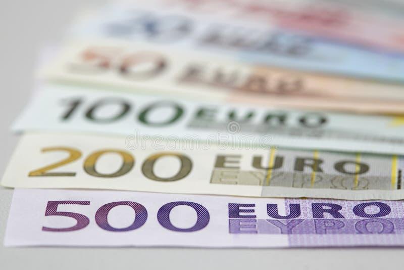 Intervalle d'euro billets de banque photo libre de droits