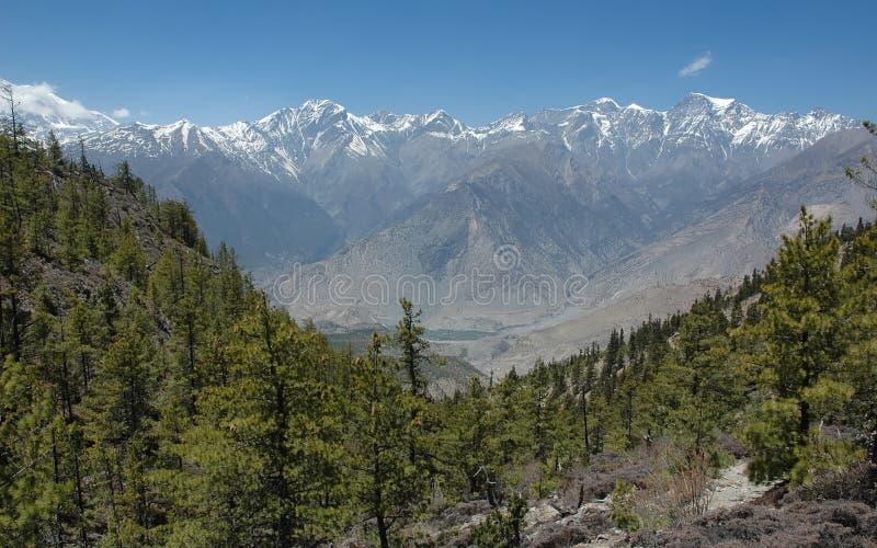 intervalle de montagne de l'Himalaya images stock