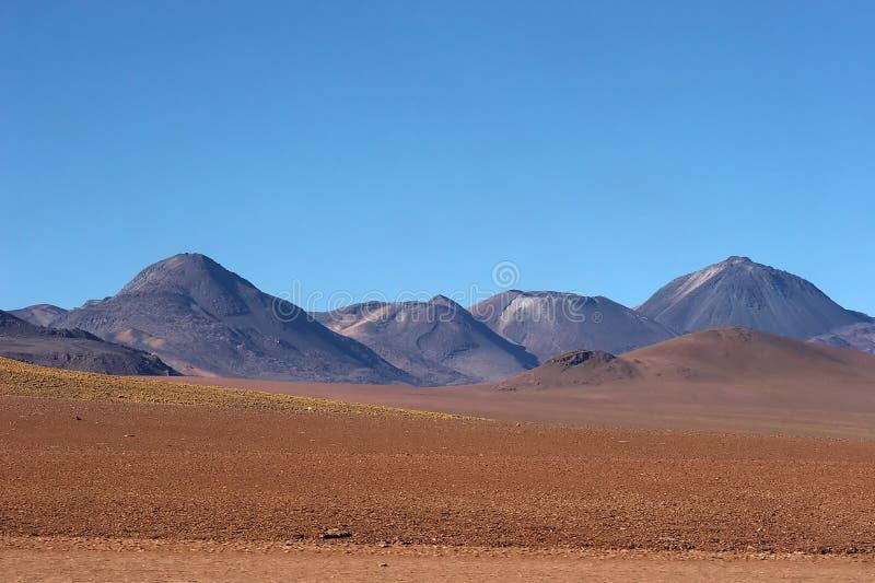 Intervalle volcanique dans le désert d'Atacama, Chili photos stock