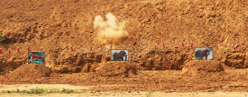 Intervallo di fucilazione immagine stock