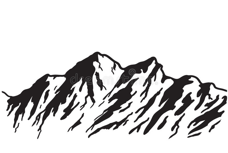 Intervallo di montagna illustrazione di stock
