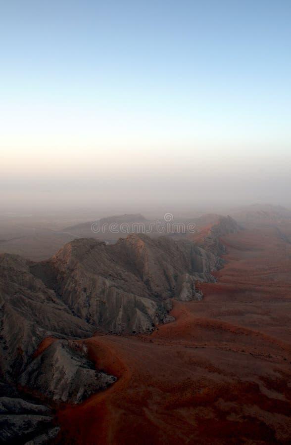 Intervallo di montagna nei UAE fotografie stock libere da diritti