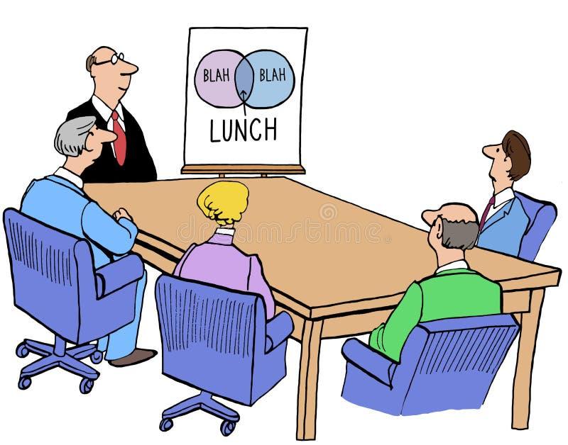 Intervallo di pranzo illustrazione vettoriale