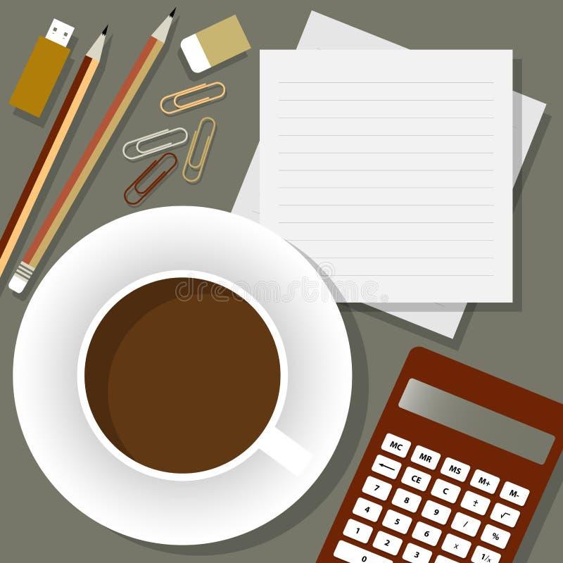 Download Intervallo per il caffè illustrazione vettoriale. Illustrazione di appunto - 56891022