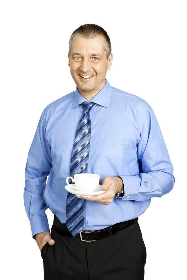 Intervallo per il caffè dell'uomo di affari immagini stock libere da diritti