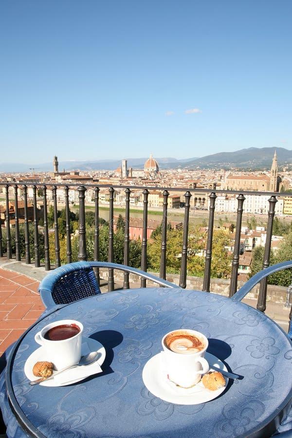 Intervallo per il caffè a Firenze fotografia stock