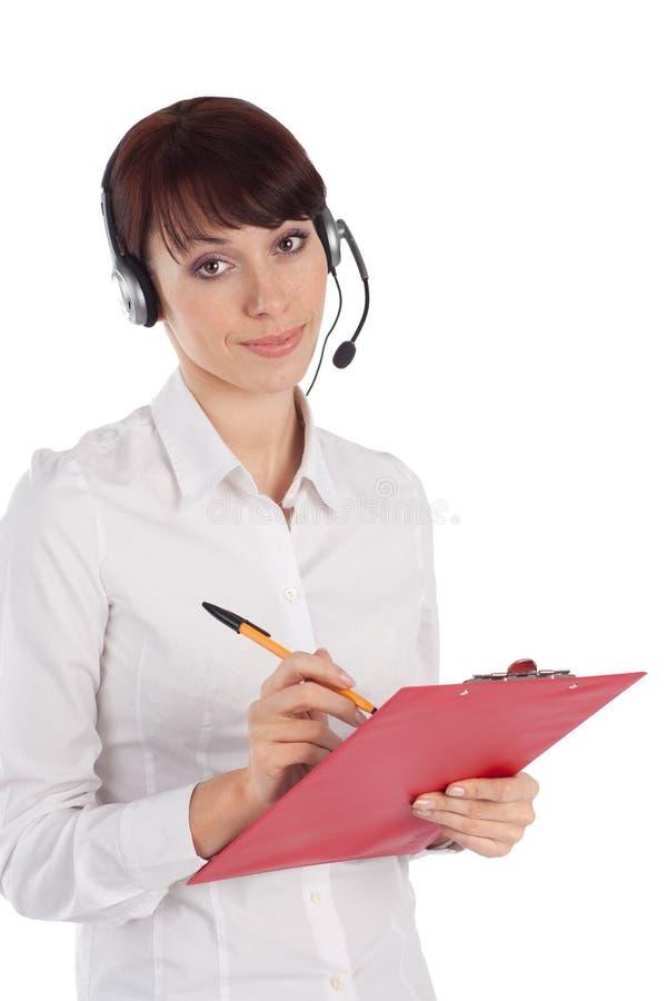 Intervenant du service client femelle photo stock
