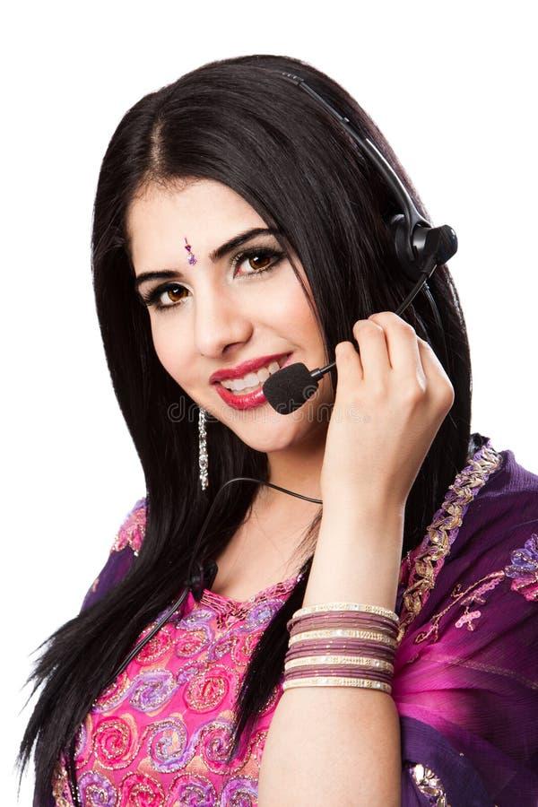 Intervenant du service client indien heureux photographie stock