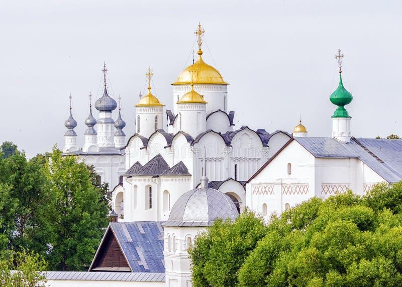 Interventieklooster in Suzdal Rusland stock fotografie