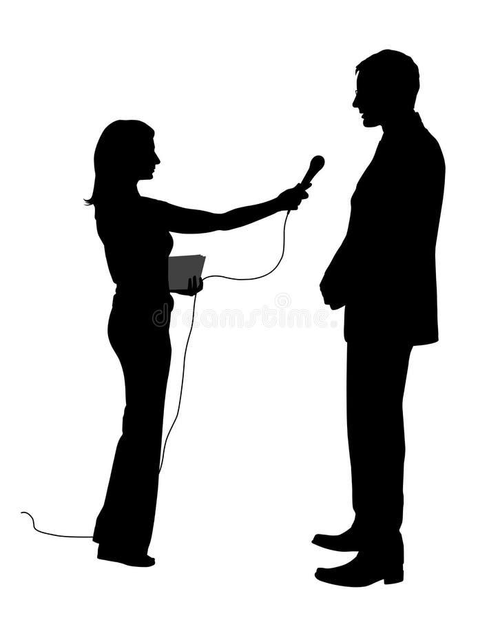 Interview stock illustration