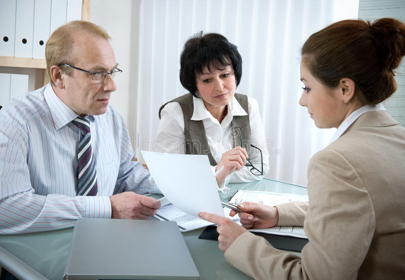 Download Interview stock photo. Image of business, agreement, female - 12697888