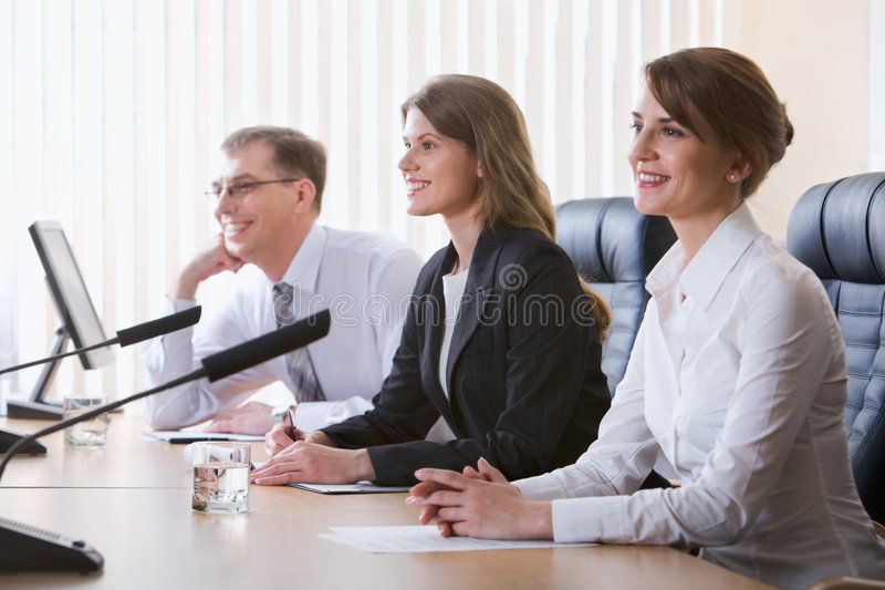 Interview lizenzfreies stockfoto