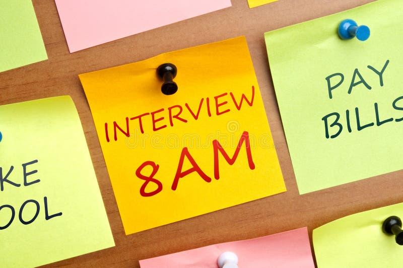 Interview 8am stock photos
