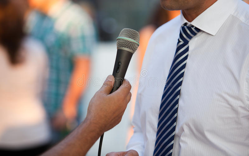 Interview With A Businessman Stock Image
