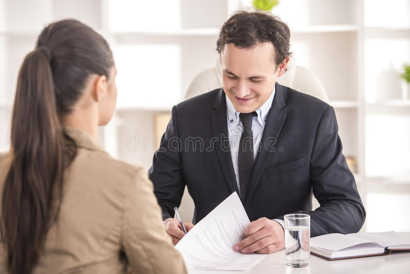 Interview stock photos