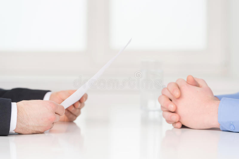 Interview. royalty free stock photos
