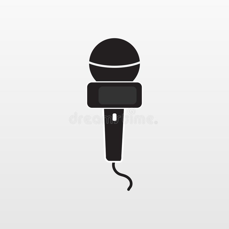 Interview icon isolated. Flat microphone media vector. Modern flat media pictogram, business, market stock illustration
