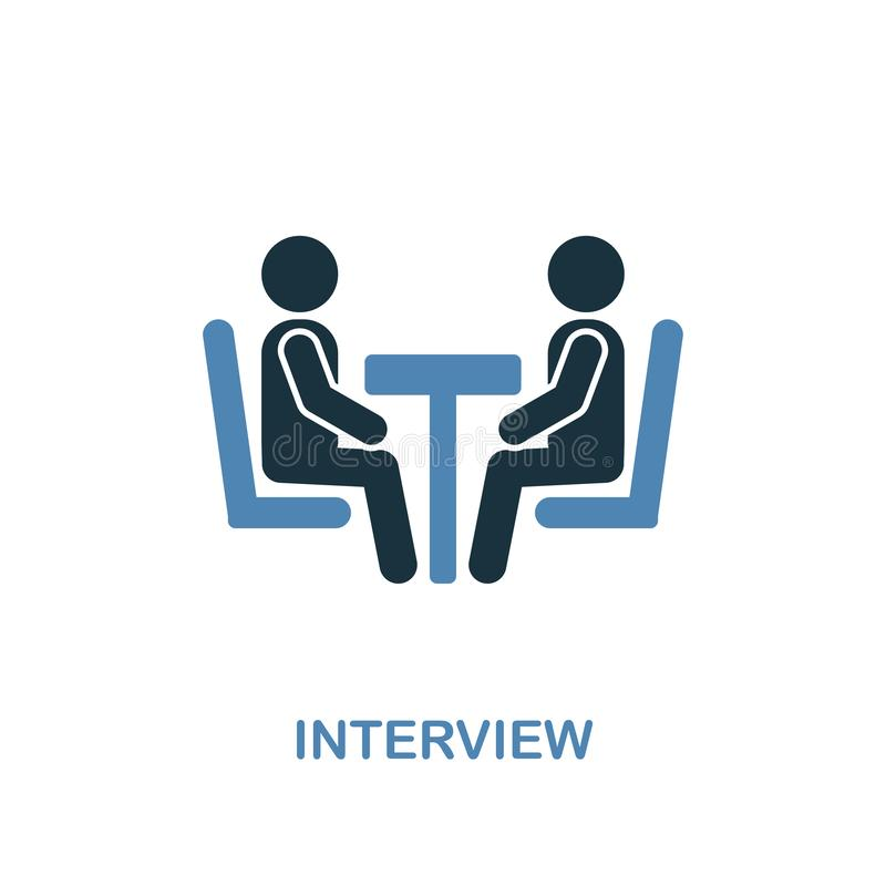 Interview icon. Pixel perfect. Monochrome Interview icon symbol from human resources collection. Two colors element for web design. Interview creative icon vector illustration