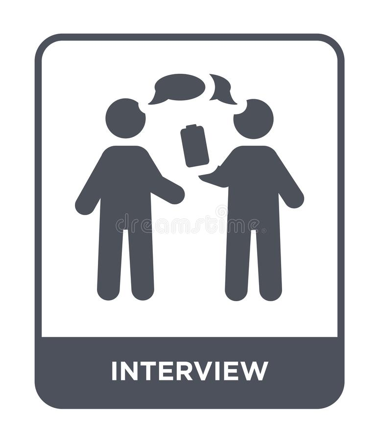 interview icon in trendy design style. interview icon isolated on white background. interview vector icon simple and modern flat stock illustration