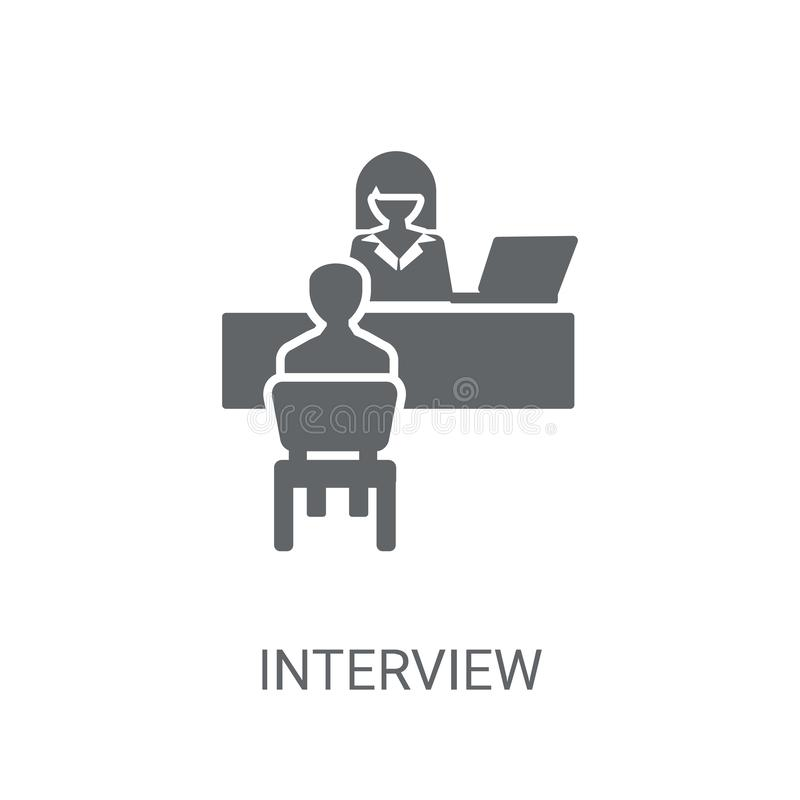 Interview icon. Trendy Interview logo concept on white backgroun. D from Human Resources collection vector illustration