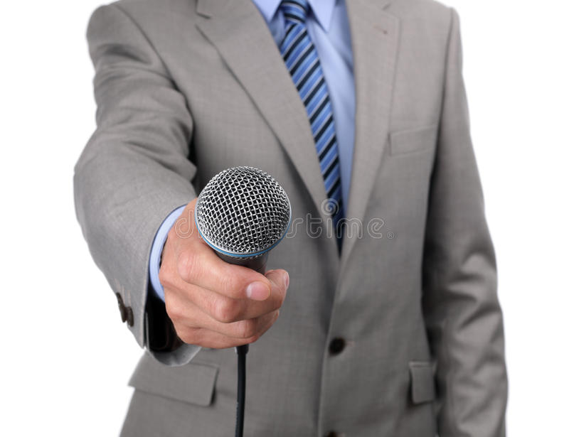 Download Interview with microphone stock image. Image of emcee - 31449521