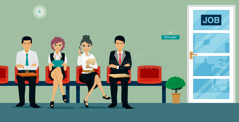 Interview work stock illustration