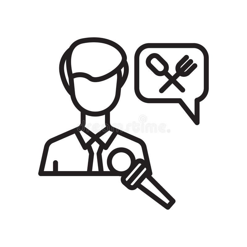 Interviewez le signe et le symbole de vecteur d'icône d'isolement sur le fond blanc, concept de logo d'entrevue illustration de vecteur