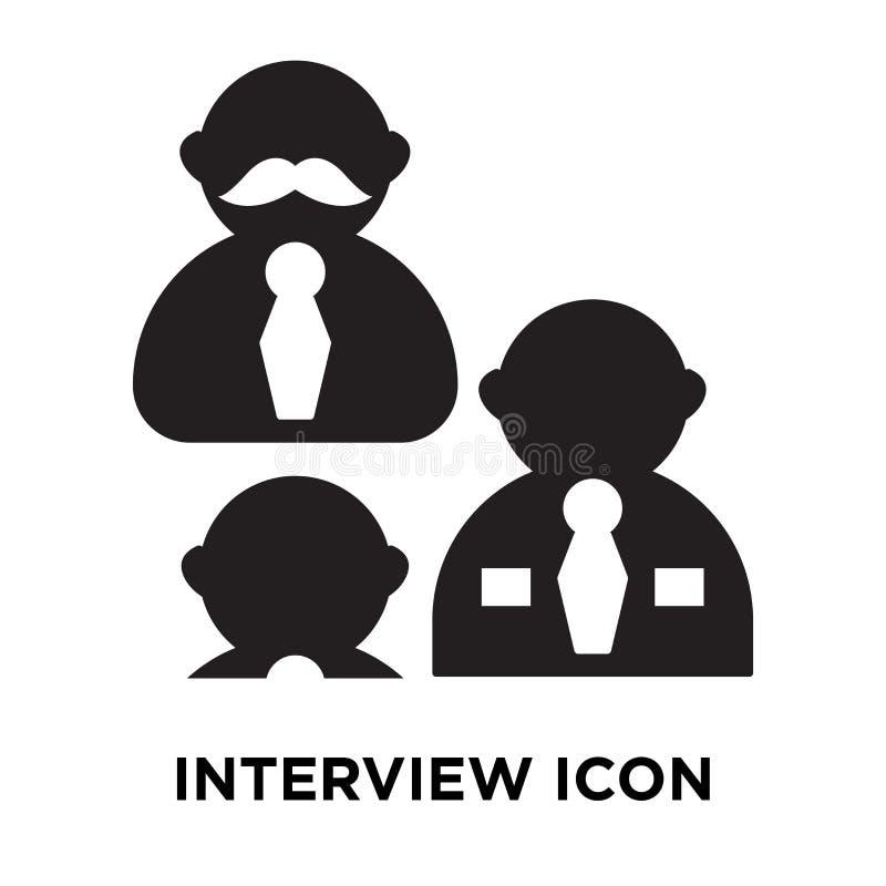 Interviewez le vecteur d'icône d'isolement sur le fond blanc, concept de logo illustration libre de droits