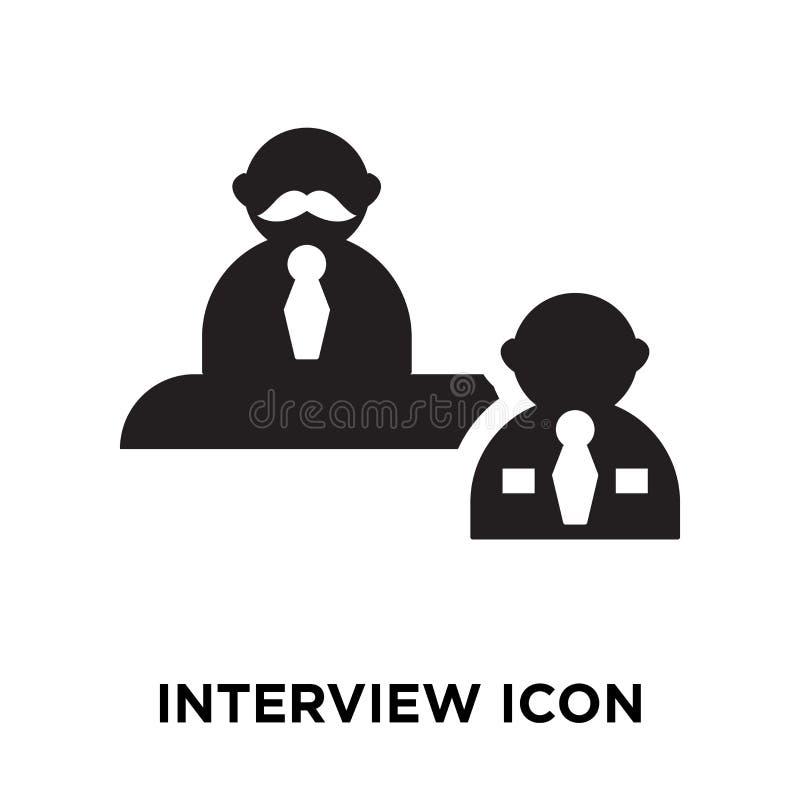Interviewez le vecteur d'icône d'isolement sur le fond blanc, concept de logo illustration de vecteur
