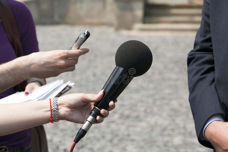 Intervista fotografia stock