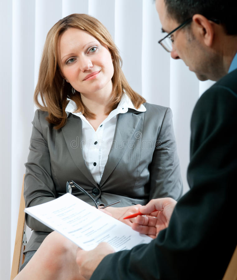 Intervista di job immagine stock libera da diritti