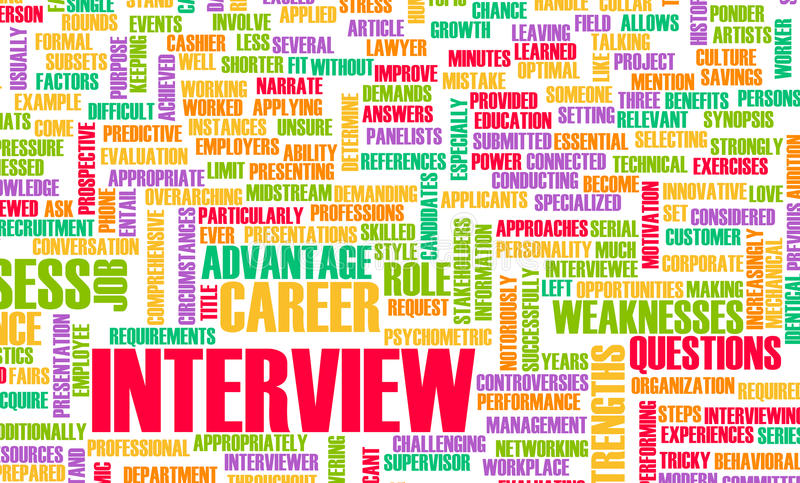 Intervista di job royalty illustrazione gratis