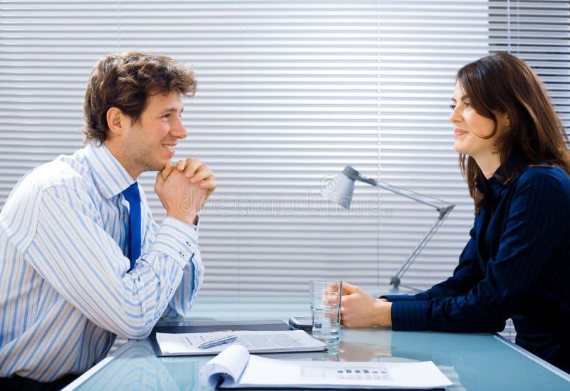 Intervista di job all'ufficio fotografie stock