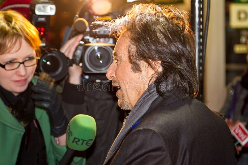 Intervista Di Pacino Di Al Per Il RTE TV Immagine Stock Editoriale