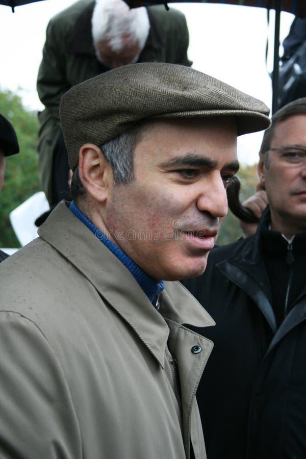 Intervista di Politico Garry Kasparov dopo fotografie stock
