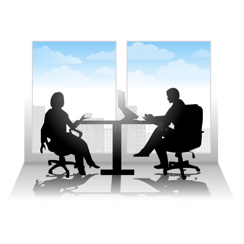Intervista o riunione casuale della città royalty illustrazione gratis