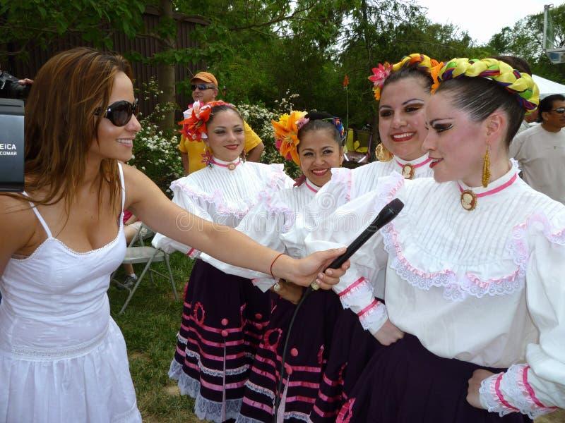 intervjua för dansare royaltyfri foto