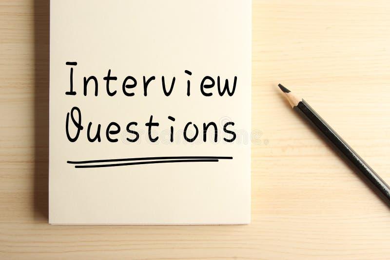 Intervjufrågor arkivbilder