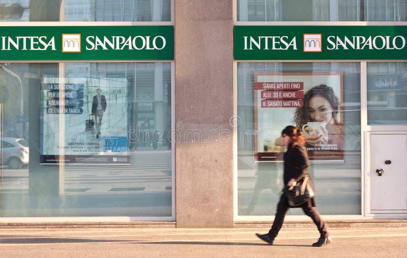 Intesa Sanpaolo fotografia stock