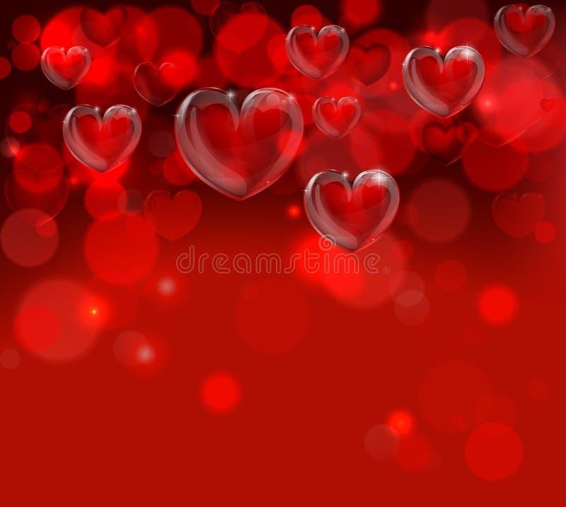 Intestazione del fondo di giorno di biglietti di S. Valentino royalty illustrazione gratis