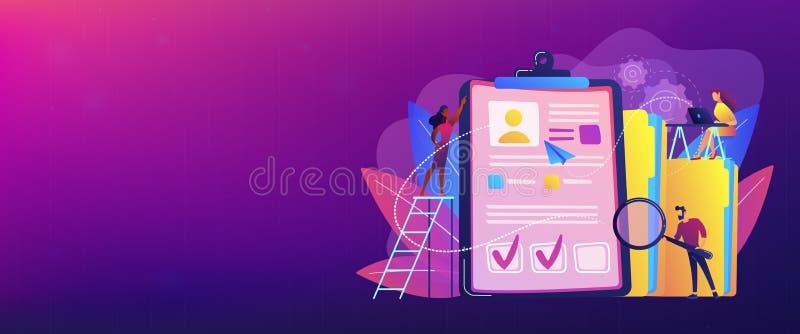 Intestazione dell'insegna di concetto dell'agenzia di assunzione illustrazione di stock