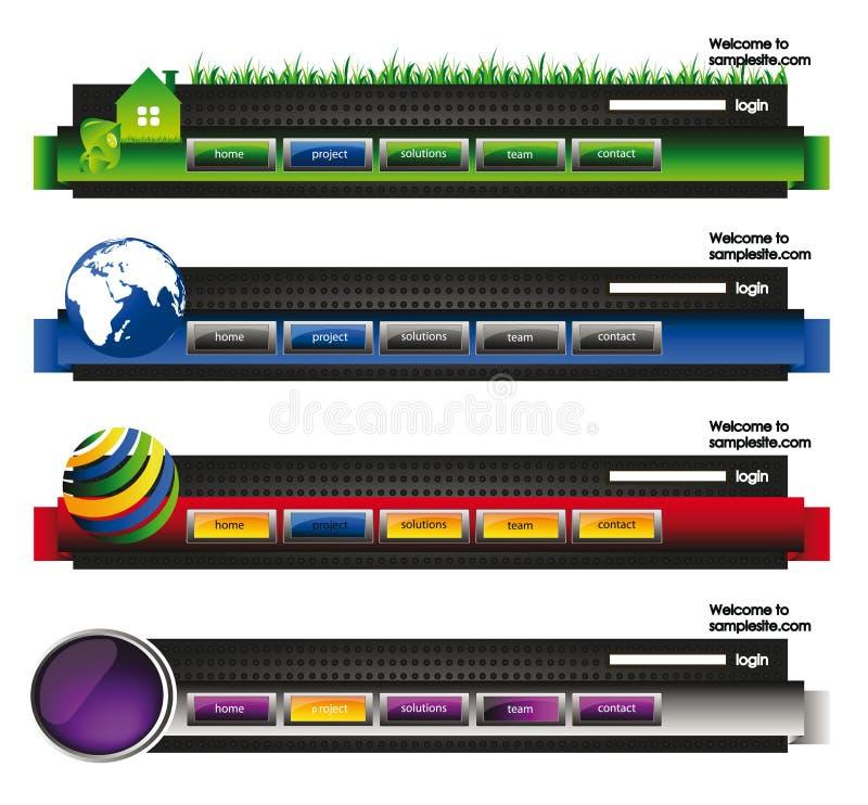 Intestazione della bandiera del modello di Web site illustrazione di stock