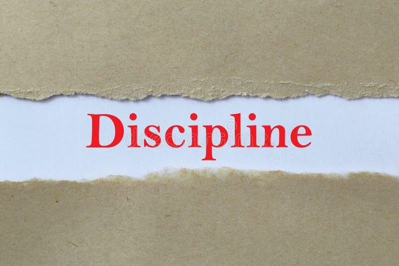 Intestazione di disciplina fotografia stock