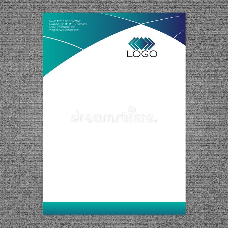 Intestazione di lettera e progettazione di logo royalty illustrazione gratis