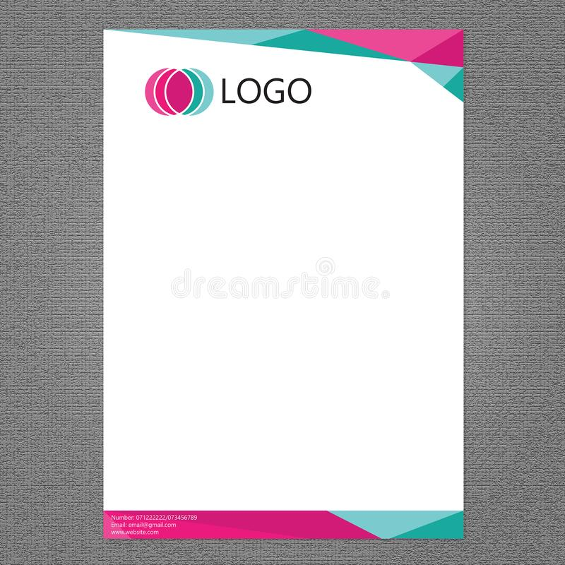 Intestazione di lettera e progettazione di logo illustrazione vettoriale