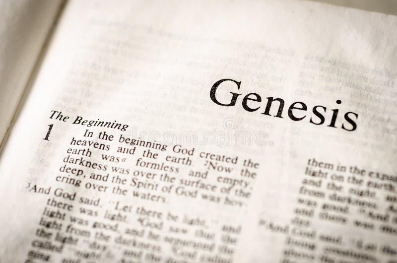Intestazione di testo di genesi. fotografia stock libera da diritti