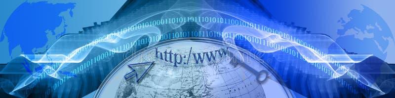 Intestazione: Tecnologia e New Horizons di individuazione illustrazione di stock